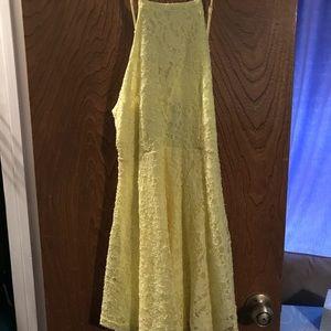 BRAND NEW Papaya Yellow Floral Lace Dress